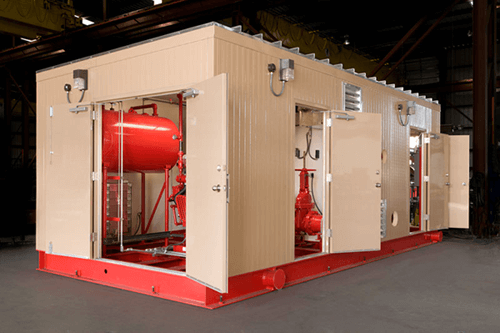 Fire Protection Packages in a Single Container