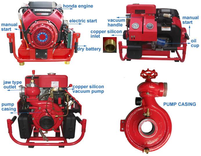 Portable Diesel Engine Fire Pump, portable fire pump,diesel